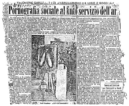 Lurie & Goodman: Doom show, Rome 1962, news clipping